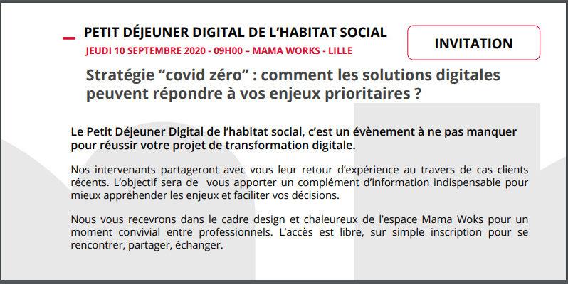 PETIT-DÉJEUNER DIGITAL DE L'HABITAT SOCIAL – LILLE